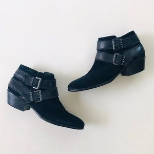 Sam Edelman Petty Ankle Black Buckle Boots 7